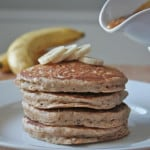 Whole Wheat Banana Nut Oat Pancakes