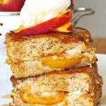 Stuffed Peach Bread French Toast