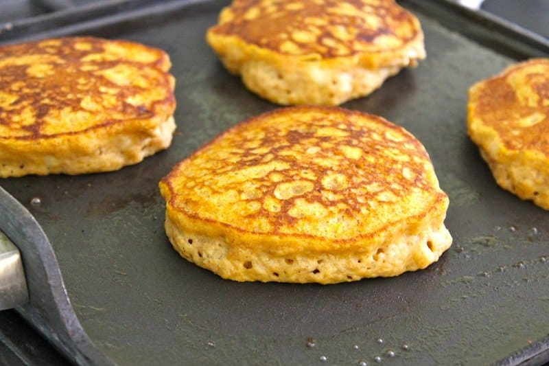 Pumpkin Banana Pancakes with Pumpkin Spice Syrup