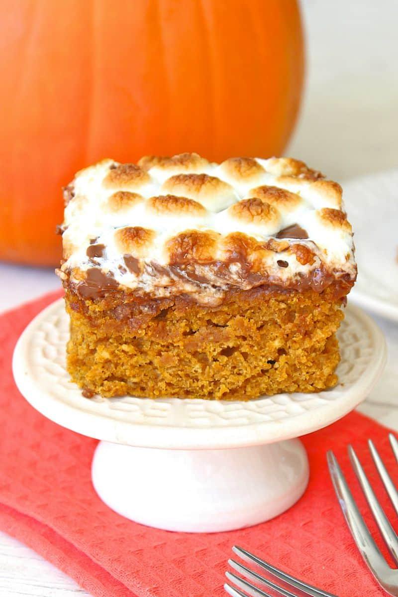 Pumpkin S'mores Snack Cake