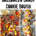 Leftover Halloween Candy Cookie Dough