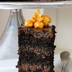 Fudge Caramel Stout Cake