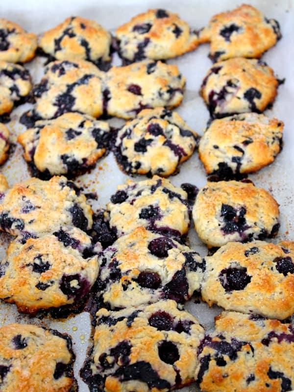 Bursting Blueberry Biscuits