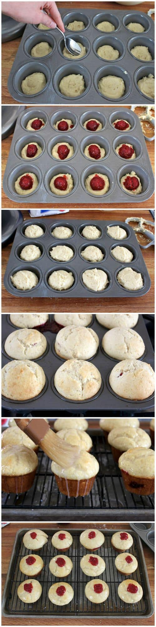 Jelly-Filled Donut Muffins