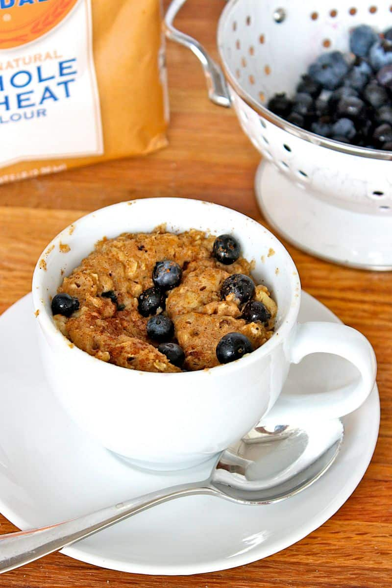 Microwave Blueberry Banana Muffin in a Mug
