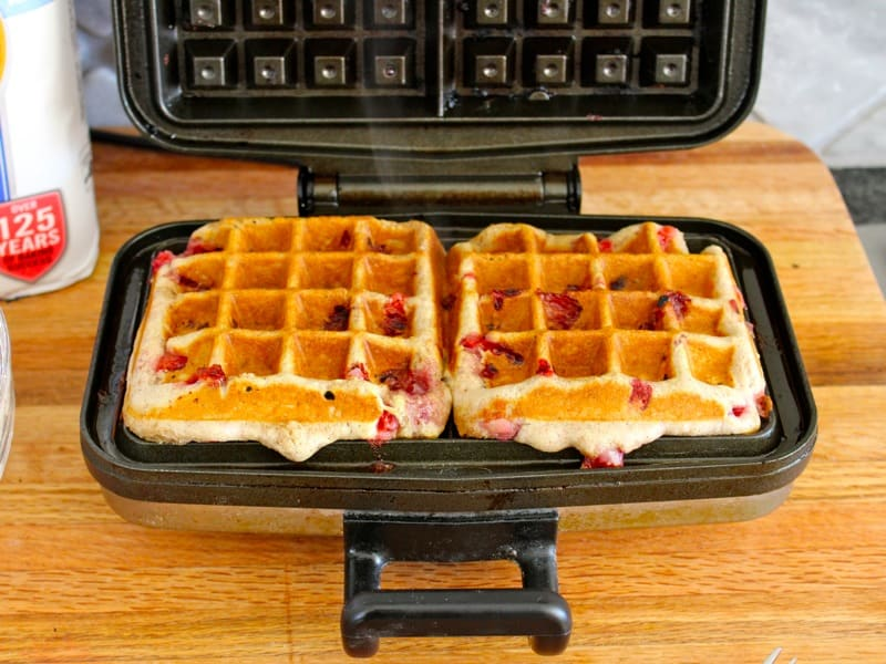 Chocolate Covered Strawberry Waffles