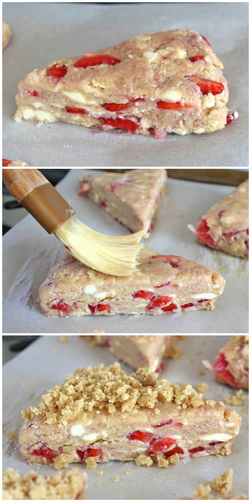 Strawberry Streusel Scones