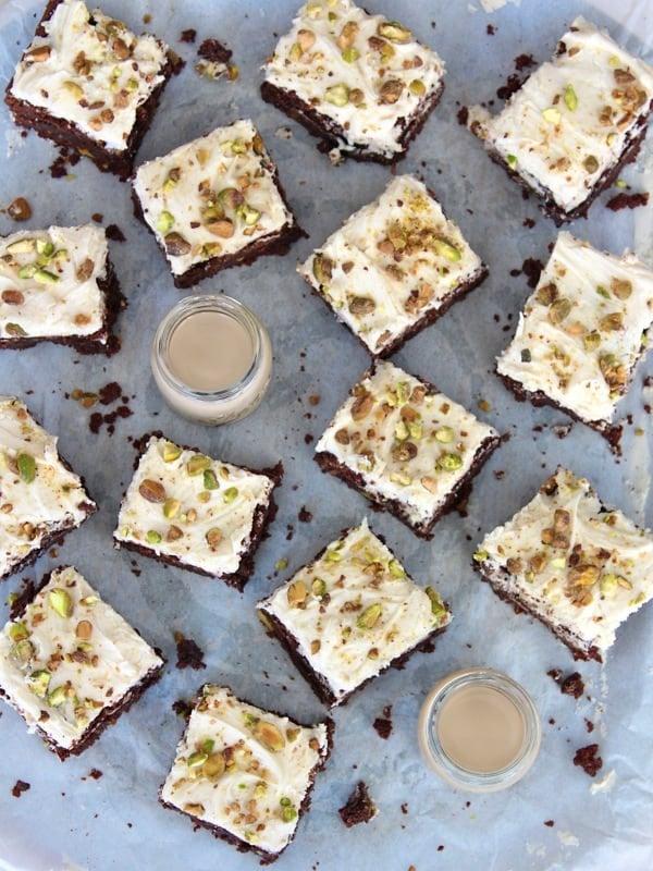 Irish Cream Pistachio Brownies