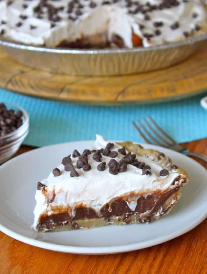 Chocolate Chip Icebox Pie