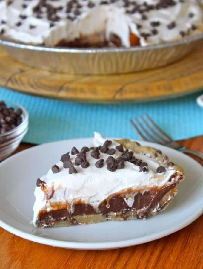 Chocolate Chip Icebox Pie