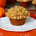 Pumpkin Pistachio Chocolate Chip Muffins