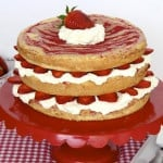 Strawberries and Cream Swirl Cake