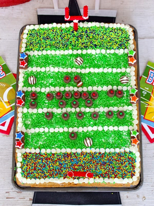 Football Field Chocolate Chip Cookie Cake
