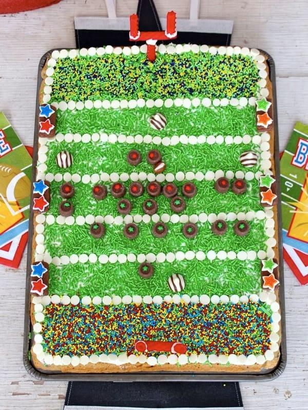 Football Field Chocolate Chip Cookie Cake