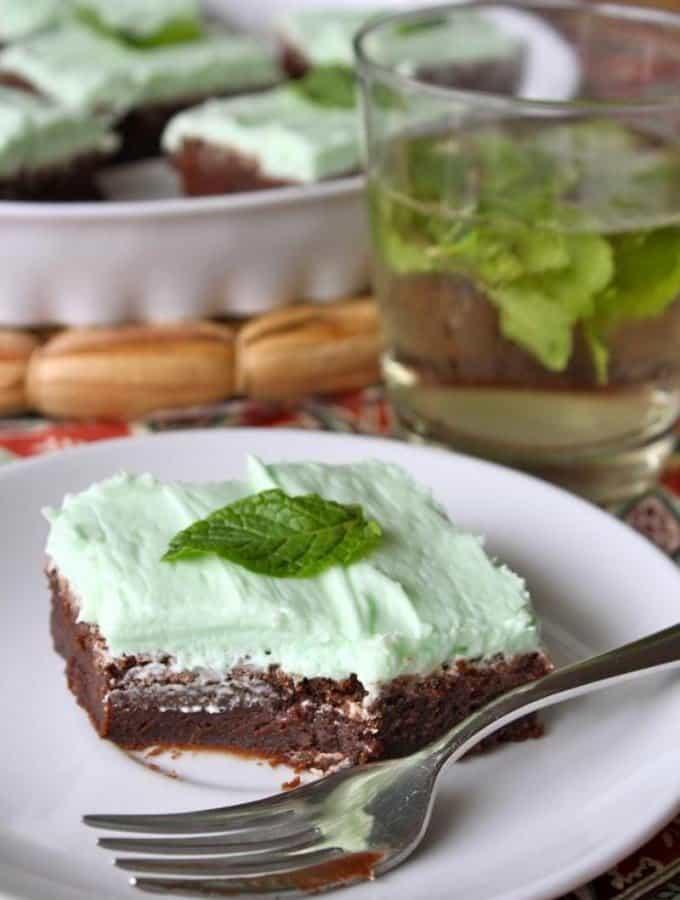 Mint Julep Brownies