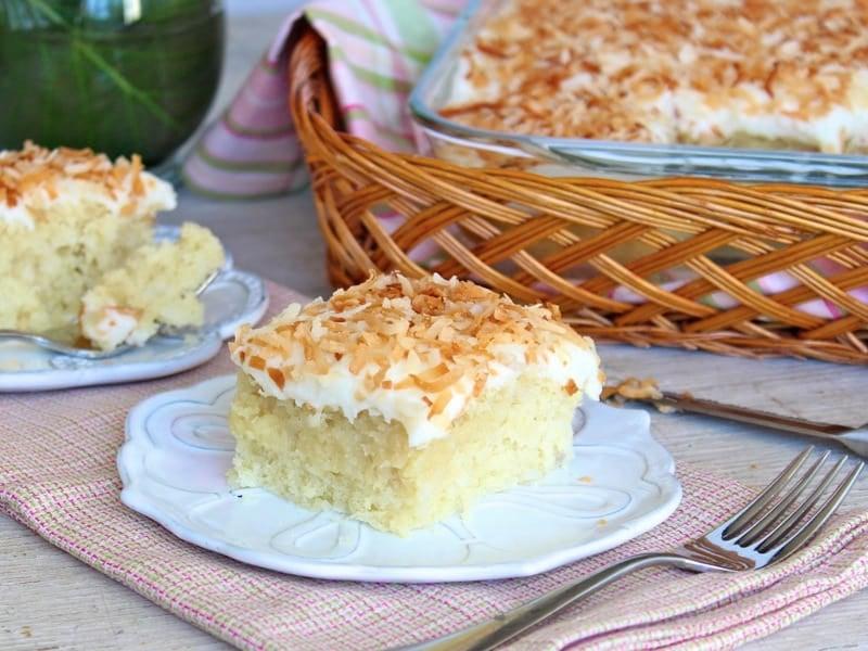 Coconut Cream Sheet Cake