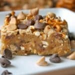 Salted Pretzel Peanut Butter Chip Bars