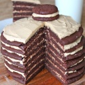 Chocolate Peanut Butter Layered Cookie Cake