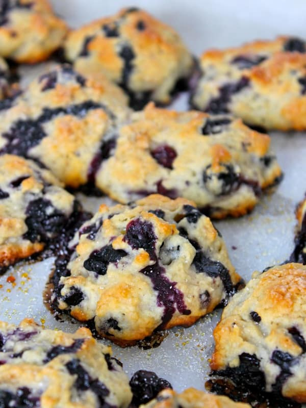 Bursting Blueberry Biscuits