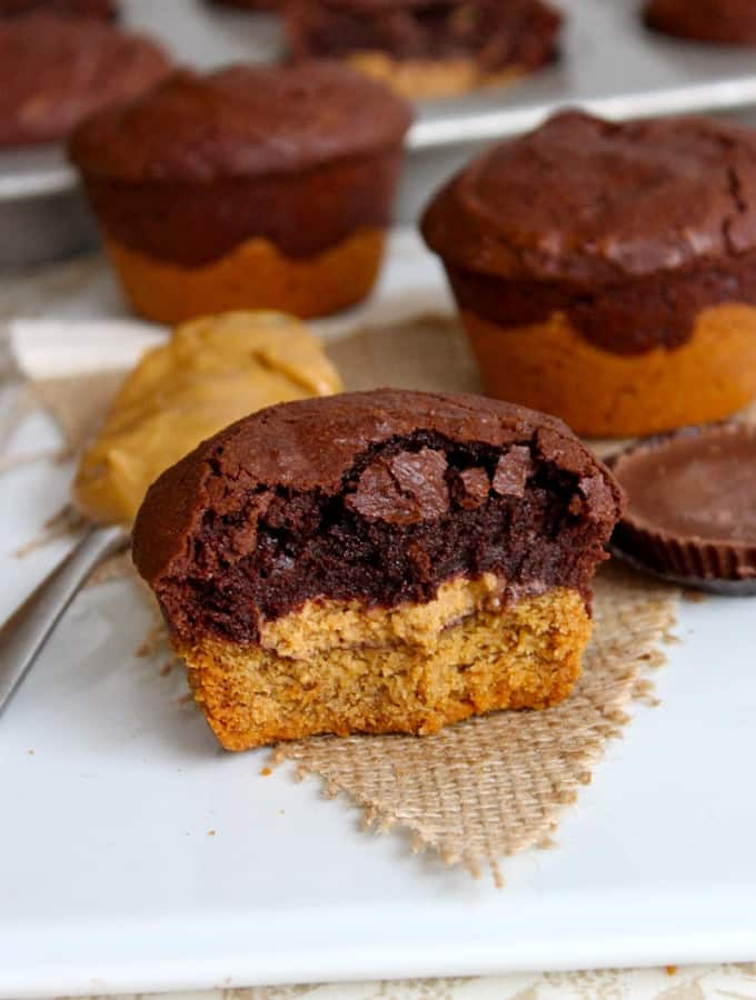 Peanut Butter Cup Brookies