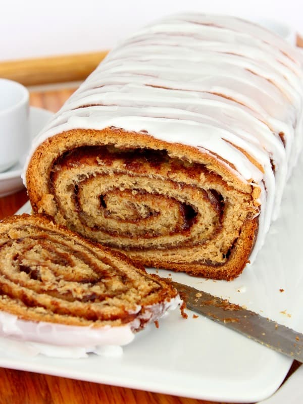 Everything you love about a cinnamon roll baked into a loaf of bread ...