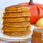 Pumpkin Banana Pancakes with Pumpkin Spice Syrup