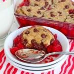 Cherry Chocolate Chip Cookie Cobbler