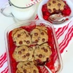 Cherry Chocolate Chip Cookie Cobbler