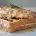 Oven-Fried Chicken and Waffles with Maple Gravy