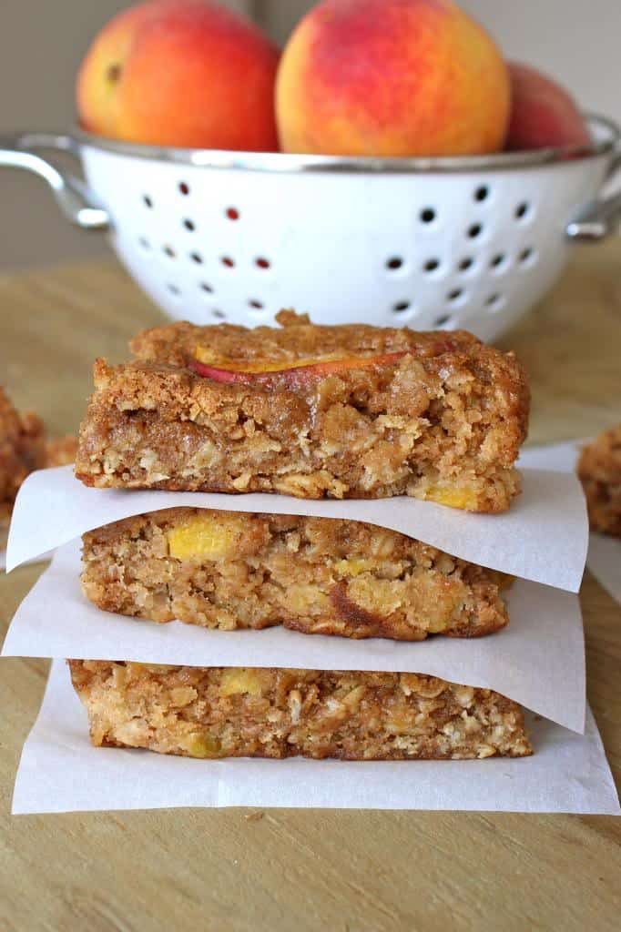Peach Oatmeal Bars