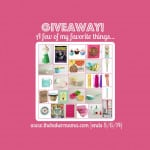 GIVEAWAY! A Few of My Favorite Things…