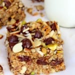 Coconuty Dark Chocolate Chip Granola Bars