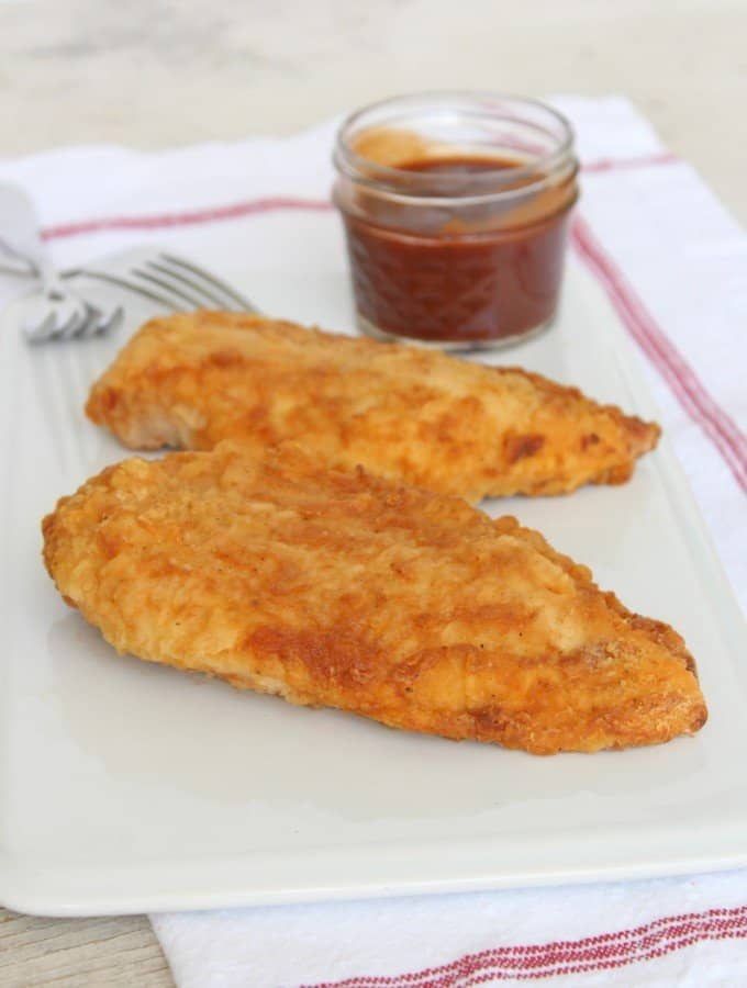 Oven-Fried Barbeque Chicken