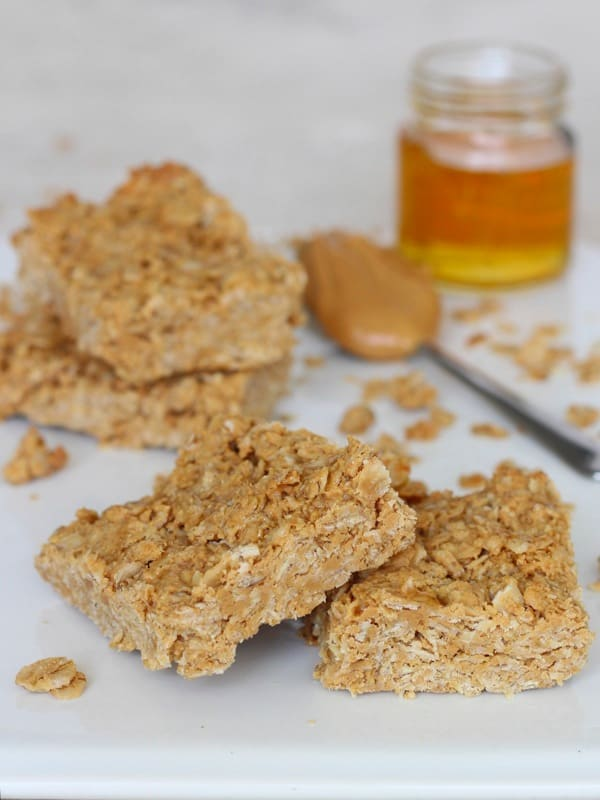 3-Ingredient Peanut Butter Honey Oat Bars