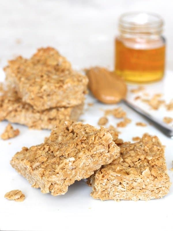 3-Ingredient Peanut Butter Honey Oat Bars