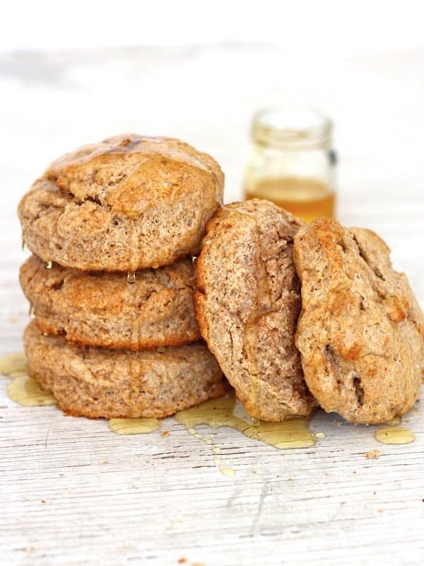 Honey Whole Wheat Biscuits | The BakerMama