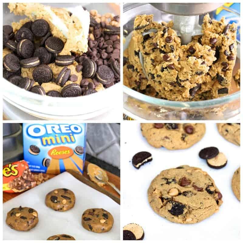 Peanut Butter Oreo Overload Cookies