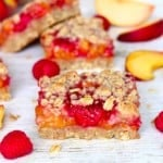 Peach Raspberry Crumb Bars