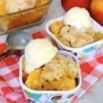3-Ingredient Peaches & Cream Cobbler