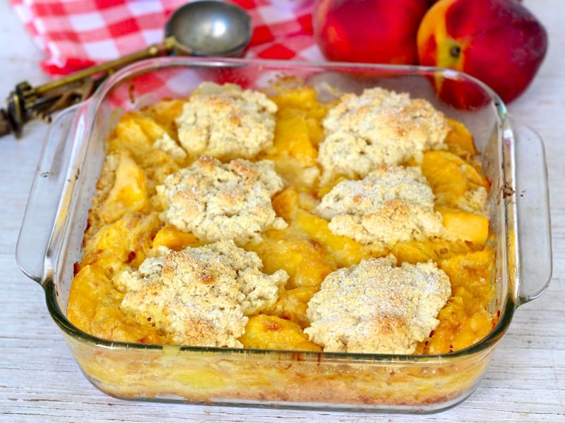 Peaches & Cream Cobbler