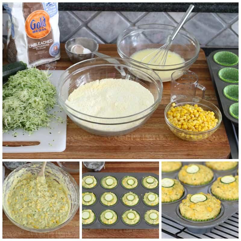 Zucchini Sweet Corn Muffins