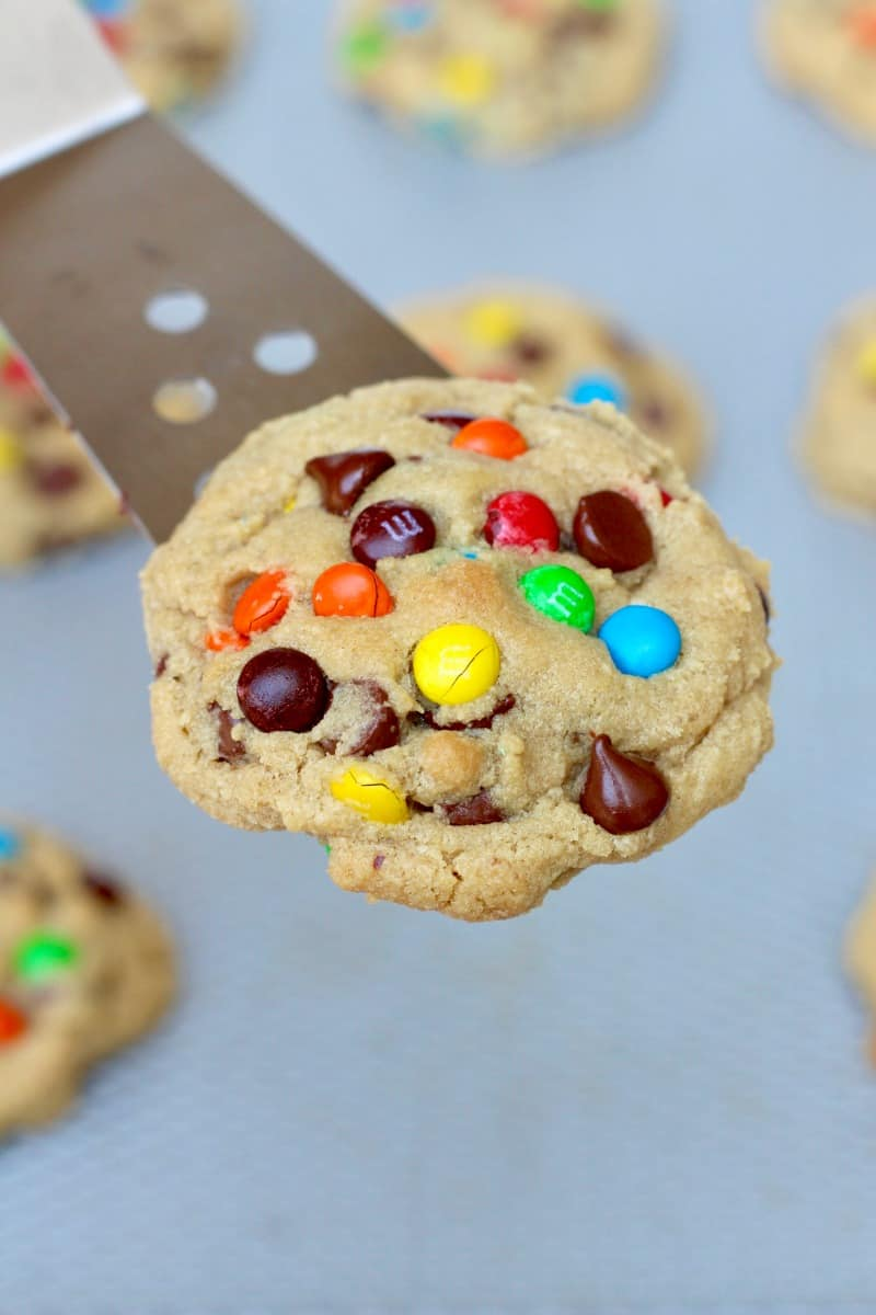 M&M Chocolate Chip Pudding Cookies