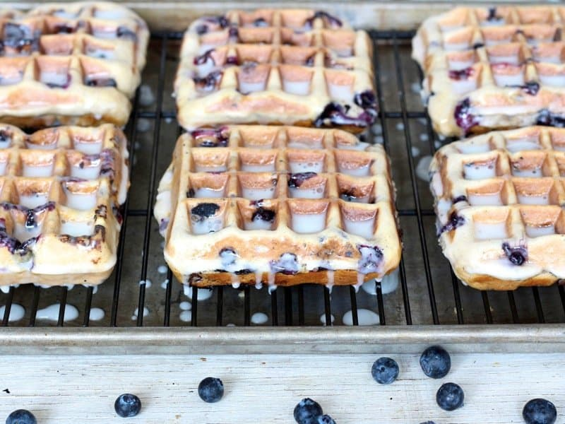 Blueberry Cake Waffles