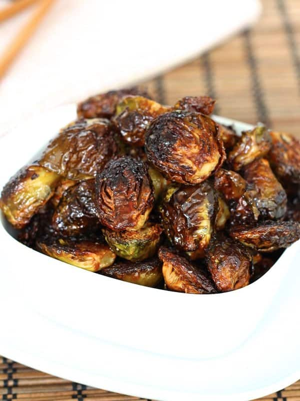 Soy Glazed Brussel Sprouts With Bacon