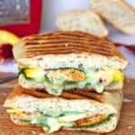 Chicken Pesto Peach Panini