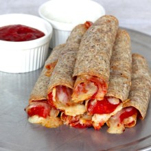 Baked Pizza Taquitos