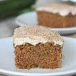 Zucchini Cake with Cinnamon Cream Cheese Frosting