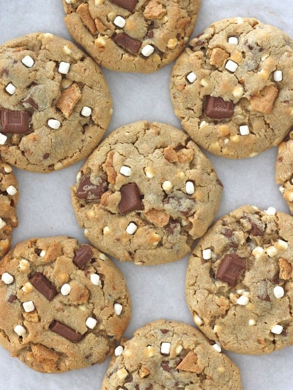 S'mores Pudding Cookies