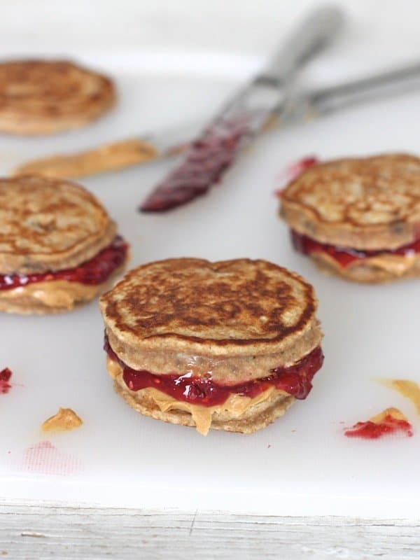 ... jelly pancake sandwiches for lunch! Great for school lunch boxes too