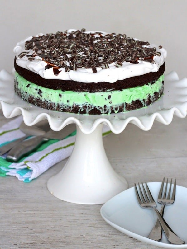 Mint Chocolate Chip Ice Cream Cake | The BakerMama